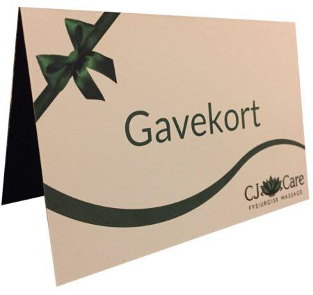 Massage Gavekort CJ Care - Fysiurgisk Massage i Næstved og Køge
